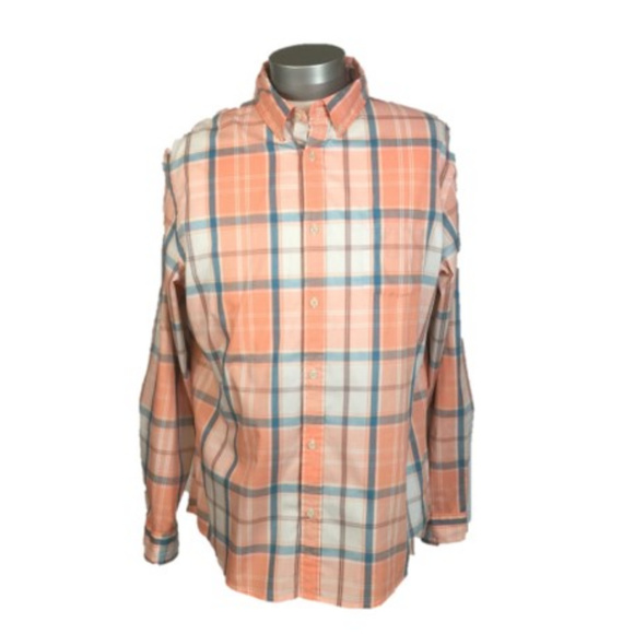 b8b3e0f8844801 Men s Plaid Long Sleeve Shirt~Adj Sleeve~2X~NWT